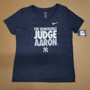 Nike NY Yankees Judge Aaron T-Shirt Womens Size XL